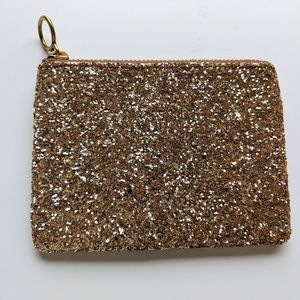 Madewell Pouch Clutch in Glitter